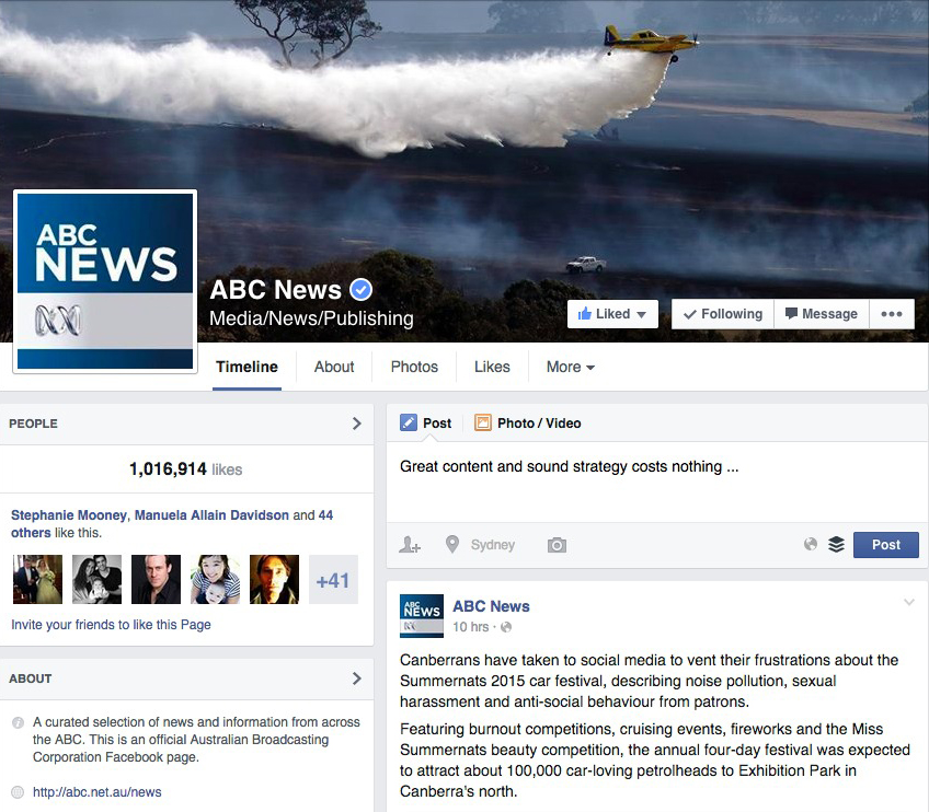 ABC News Facebook Page  on 5/1/2015
