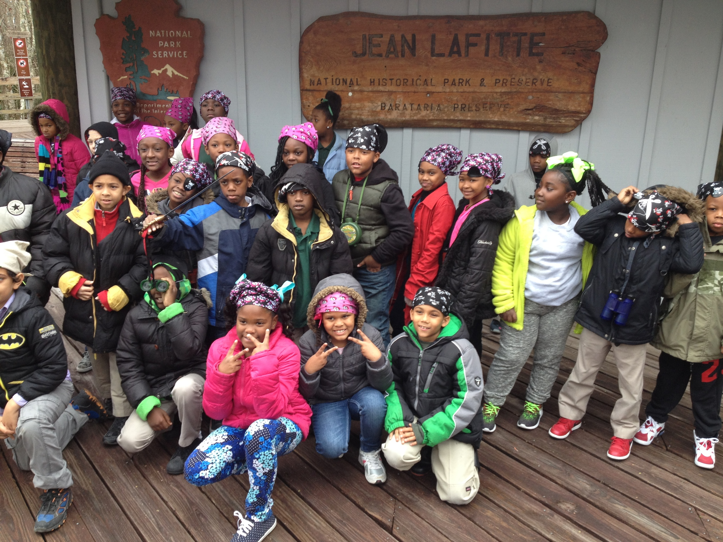 Arrrrr: Green 3rd Graders prepare to explore the swamps at Jean Lafitte National Historic Park and Preserve!