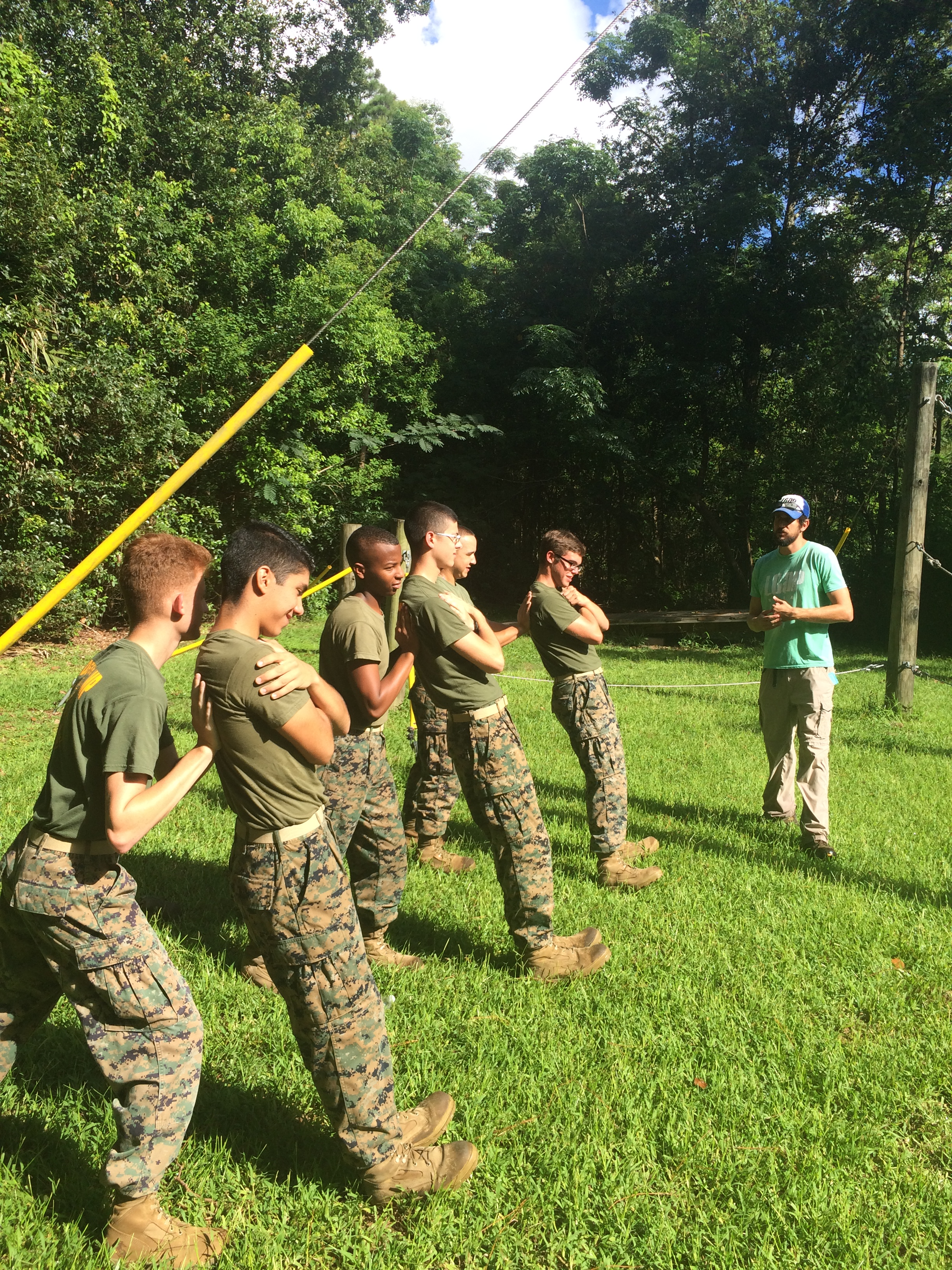 New Orleans Military and Maritime Academy - Low Ropes City Park Challenge Course.JPG