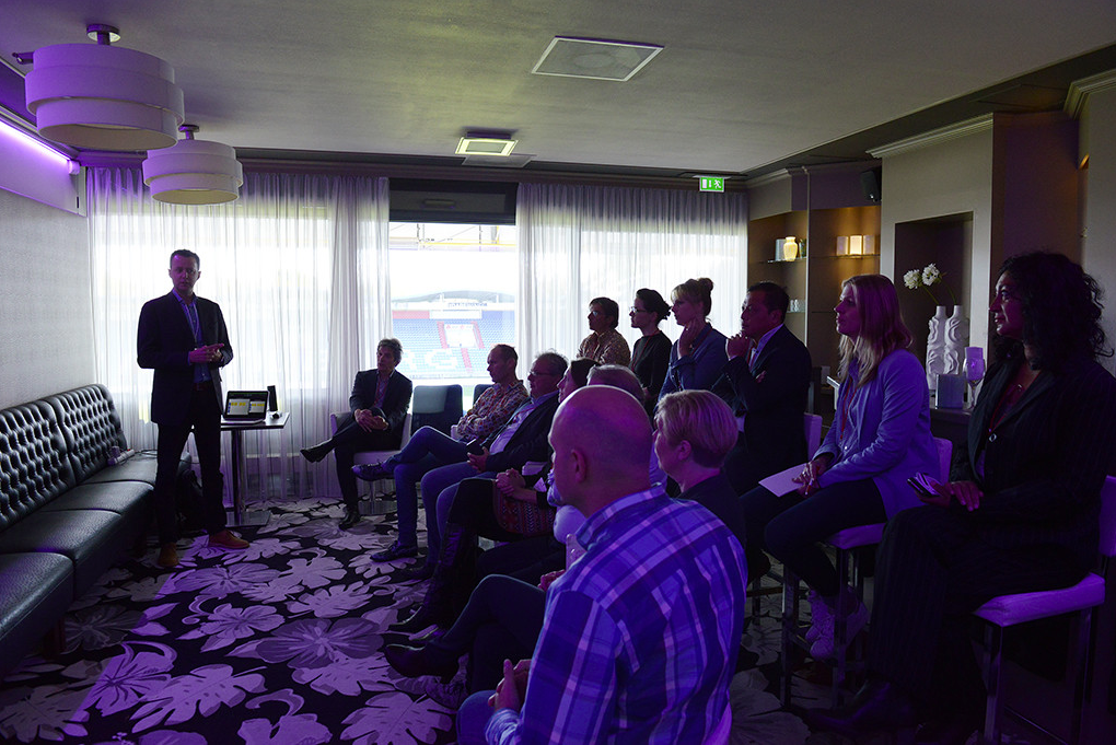 Yves Pilet giving his workshop on labor market developments and employer branding