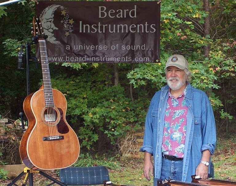 Richard Beard and one of his guitars