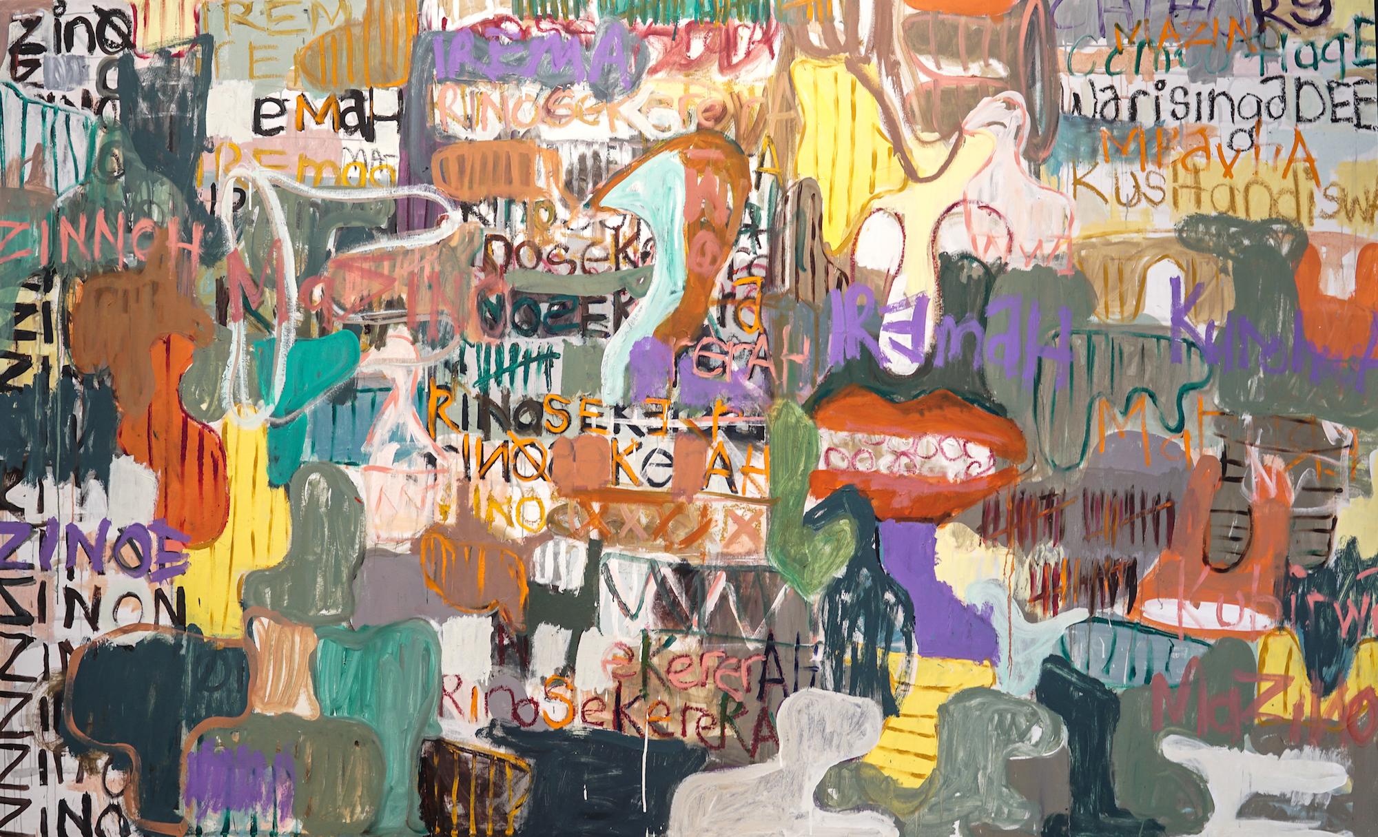 Gresham Tapiwa Nyuade, Zino Irema, Oil on Canvas, 290 x 177.jpg