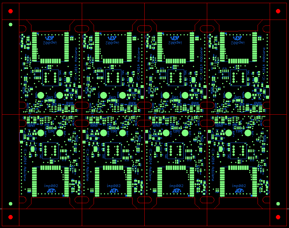 This is a good example where the wifi module would overhang the edge of the PCB so by rotating them you can save a lot of overall PCB real-estate. If you kept them all the same rotation, you'd have to add extra material in between the rows in order to accommodate the wifi module sticking out.