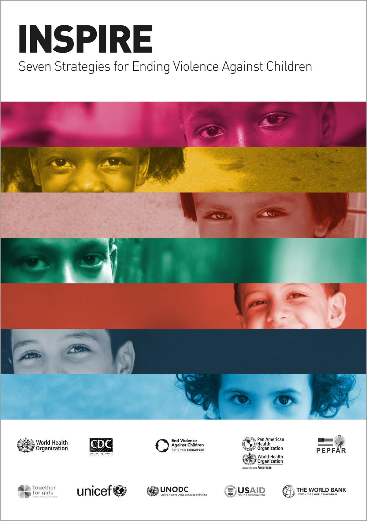 """CLIENT:  World Health Organization  PROJECT: """"INSPIRE, Seven Strategies for Ending Violence Against Children"""""""" –  report"""