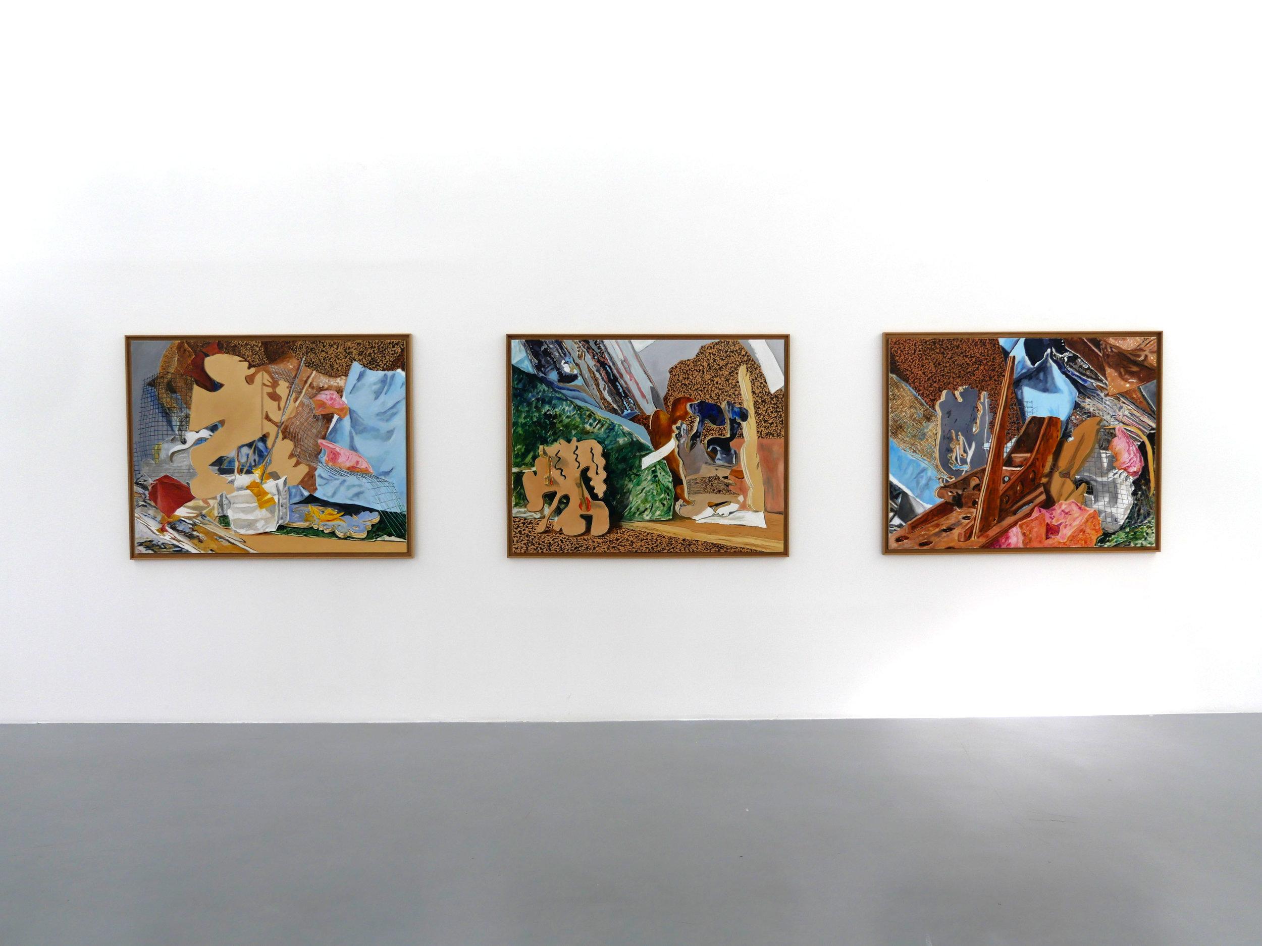 Nouvelles Odyssées - Léonard Martin (artiste) et Joséphine Dupuy-Chavanat (curatrice)Léonard Martin fait partie de ces artistes amoureux de la peinture, de ses possibilités, et de sa contemporanéité. Faisant des aller-retours entre différents média, Léonard travaille à partir de décors qu'il construit et assemble. Réaliste quoique frôlant l'abstraction, il s'attache à reproduire ces sortes de cirques à la Calder en bousculant les échelles et en questionnant notre manière d'appréhender la distance à laquelle nous regardons les objets. A l'Université Paris-Dauphine, vidéo, peintures et installations s'entrecroisent. L'artiste sort d'un cadre prédéfini de l'art et alimente chacune de ces disciplines, engage une conversation, les transpose et les unit.Joséphine Dupuy-Chavanat