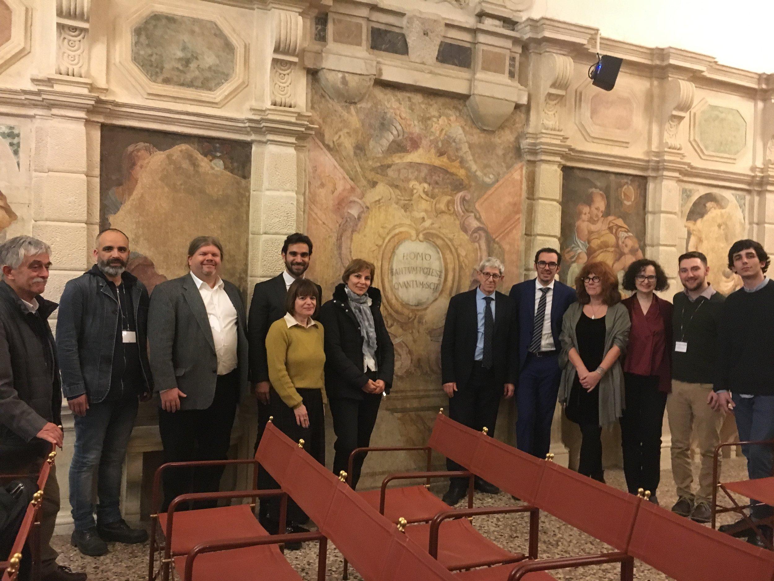 The invited speakers at the 2018 University of Padua Debate laboratory.