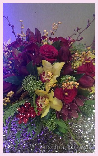 Red Lion amarylis, john storey orchids and golden cymbid orchids.jpg