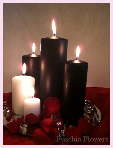 Black and white candle centrepiece.jpg