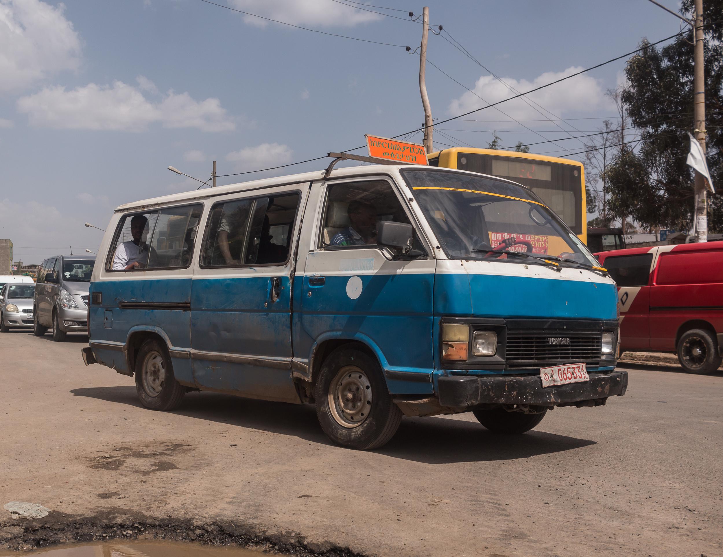 A relatively empty 'mini-bus'