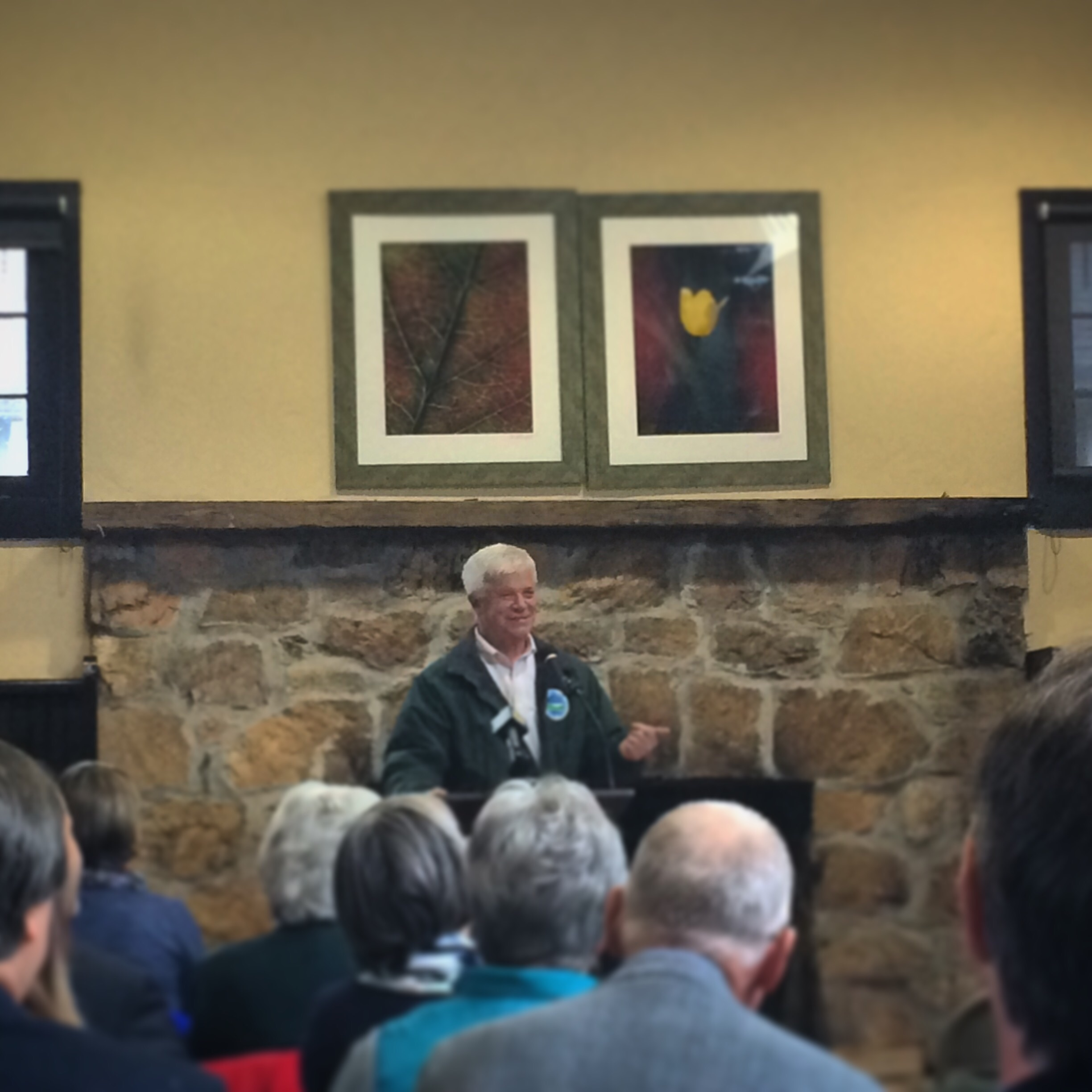 DEC Commissioner Martens speaking at the Conservation Partnership Program announcement, held at Teatown Lake Reservation.