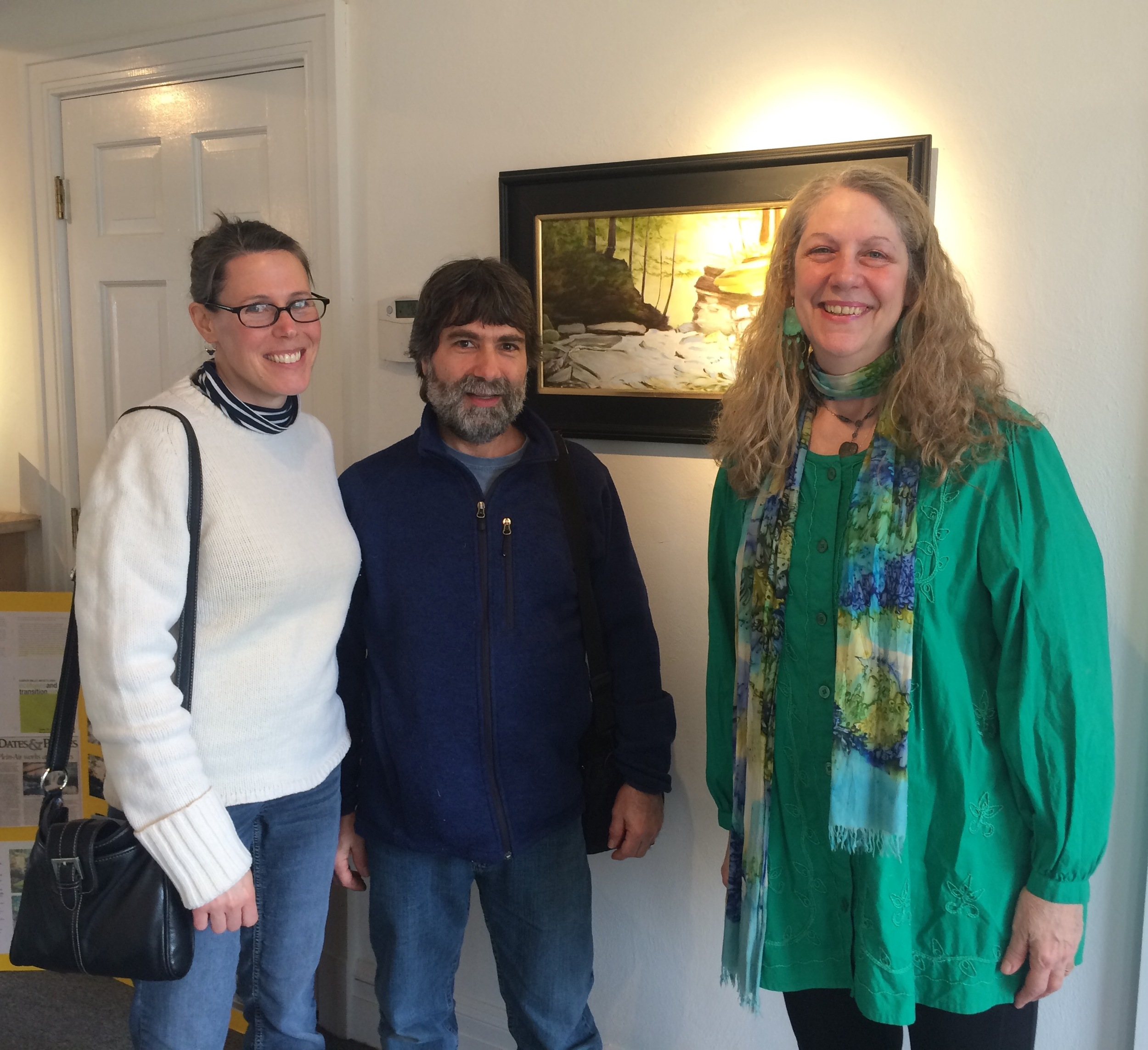 Susan Miiller (Far Right) pictured here with William and Dana, two attendees on Saturday, March 5th.