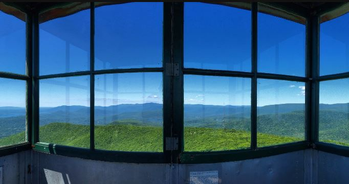 The view from Overlook Mountain's Fire Tower