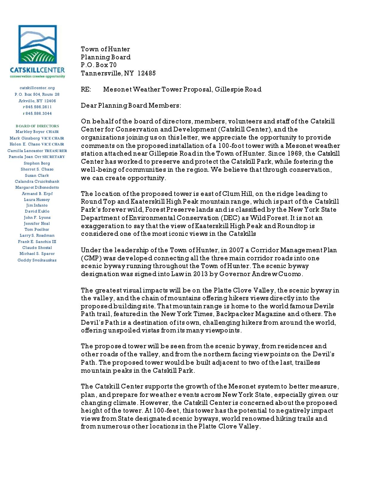 20161004 Catskill Center and Partners - TownOfHunterPlanningBoardMesonetCommentLetter-page-001.jpg