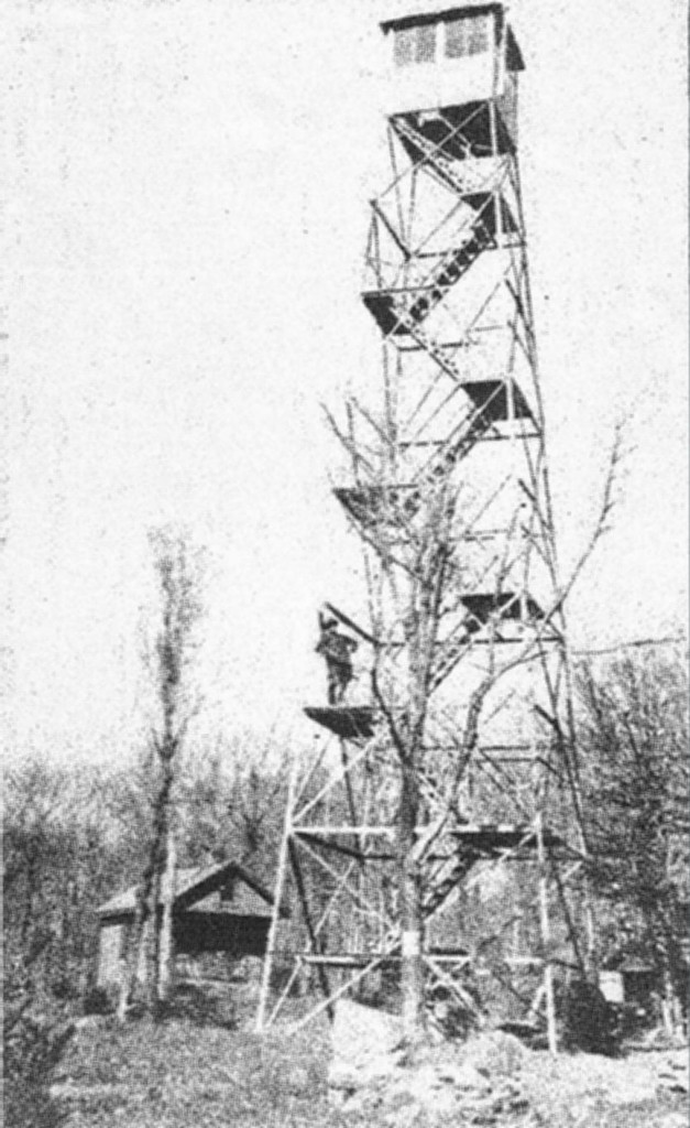 Historic image of one of the five fire towers within the Catskill Park and Forest Preserve boundary. Visit  catskillcenter.org/fire-tower-project  for information on the five towers the Catskill Center helps maintain throughout the region.