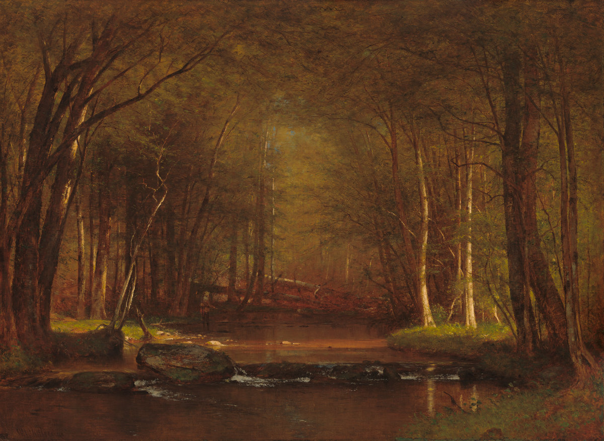 Trout Brook in the Catskills  Worthington Whittredge