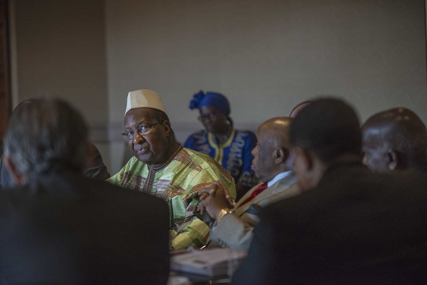 The former President of Mali, Alpha Oumar Konaré, at the board meeting of the Champions.