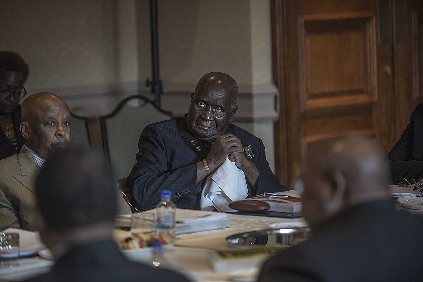 The former President of Zambia, Kenneth Kaunda, at the board meeting of the Champions.