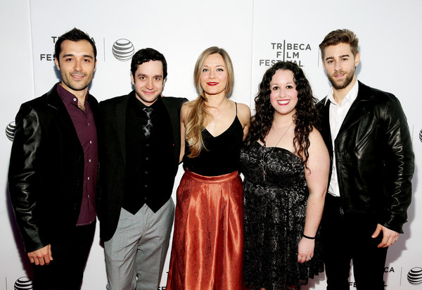 Frankie J. Alvarez, Luke LoCurcio, yours truly, Shara Ashley Zeiger, and Luke Guldan at the Aphasia premiere April 16, 2015   Photo: Getty Images