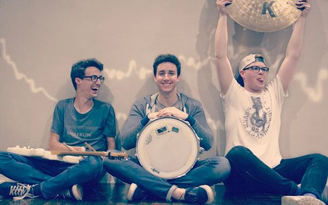 """let's take a band pic for saturday!"" - @jakefields_ *celebrates about it mid-picture*  also, why do i have the snare?"