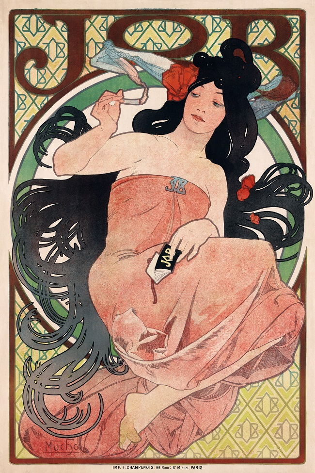 Alphonse Mucha is an old school smoke ad artist. His artwork is considered classic.
