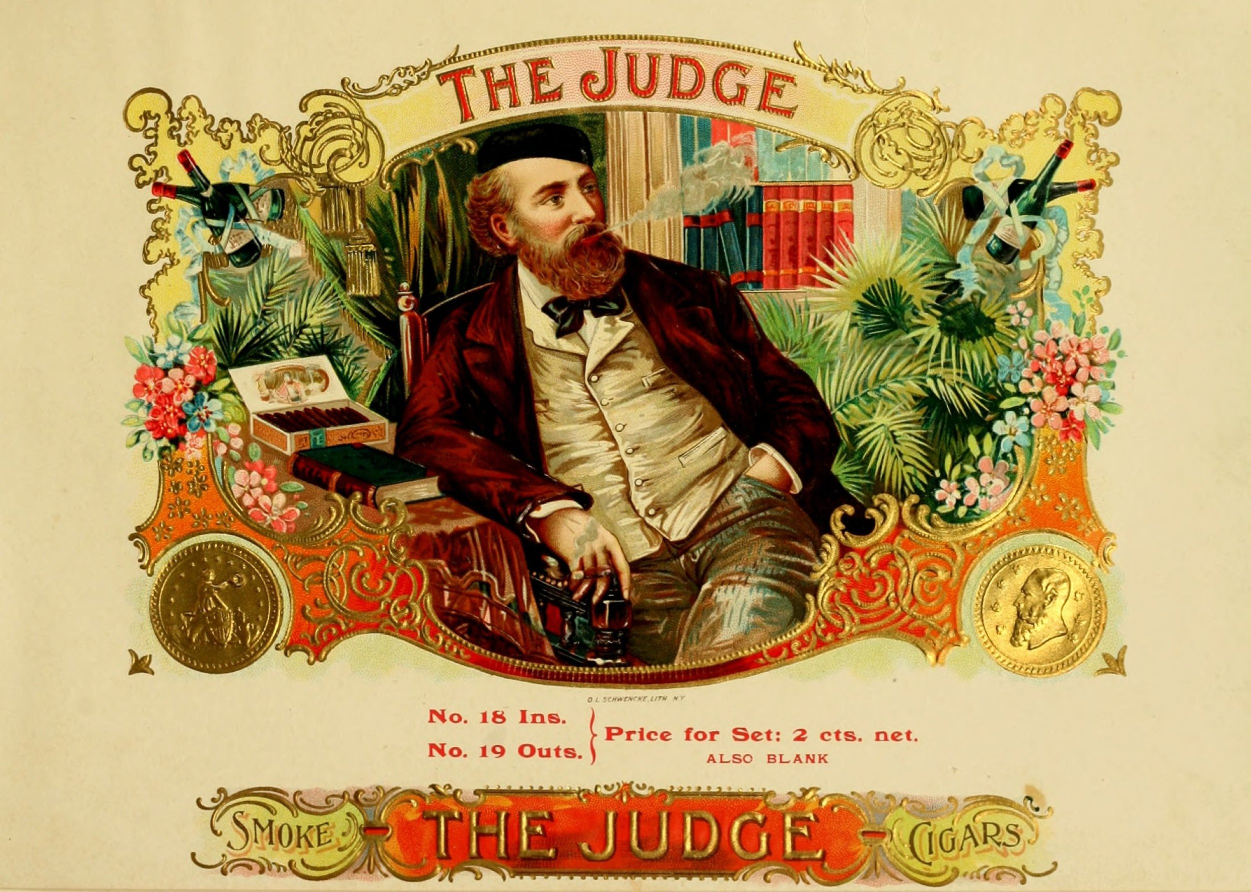 Cigar art was plentiful from the turn of the 19th century up until the first half of the 20th century. Many anonymous artists are still anonymous to this day.