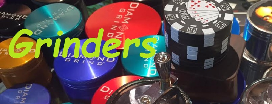 Grinders by brands like Diamond and Wall Street Hippies are just a few of the items we have