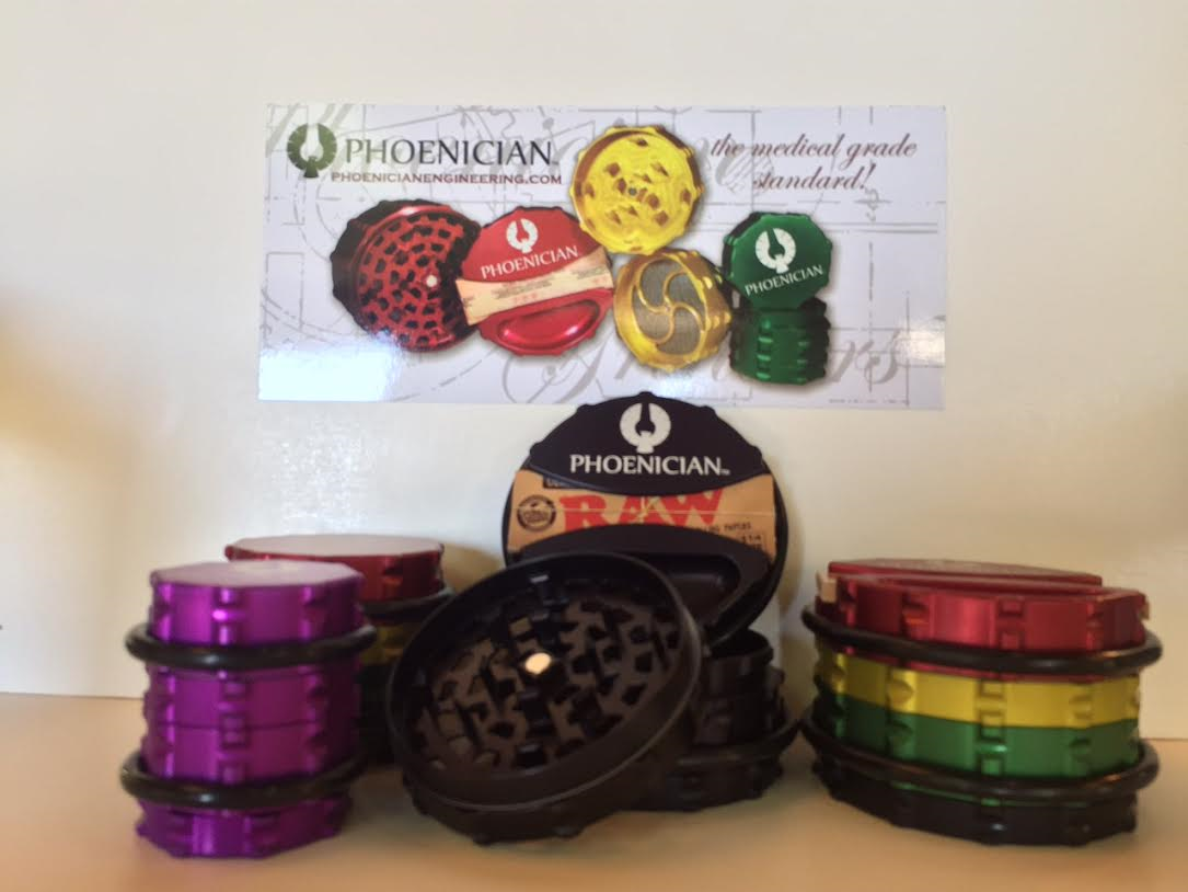 Phoenician grinders have a colorful look that stands out among other grinders