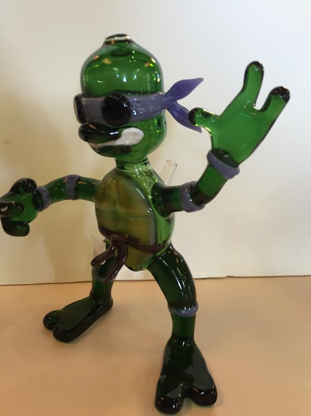 Teenage Mutant Ninja Turtle Donatello Glass Pipe