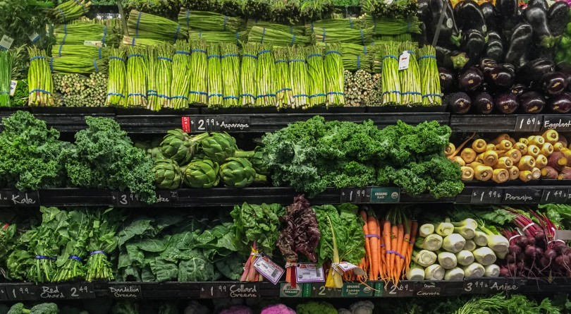 View of well ordered vegetables for sale in a supermarket. (Denise Taylor/Getty Images via Macleans.ca)