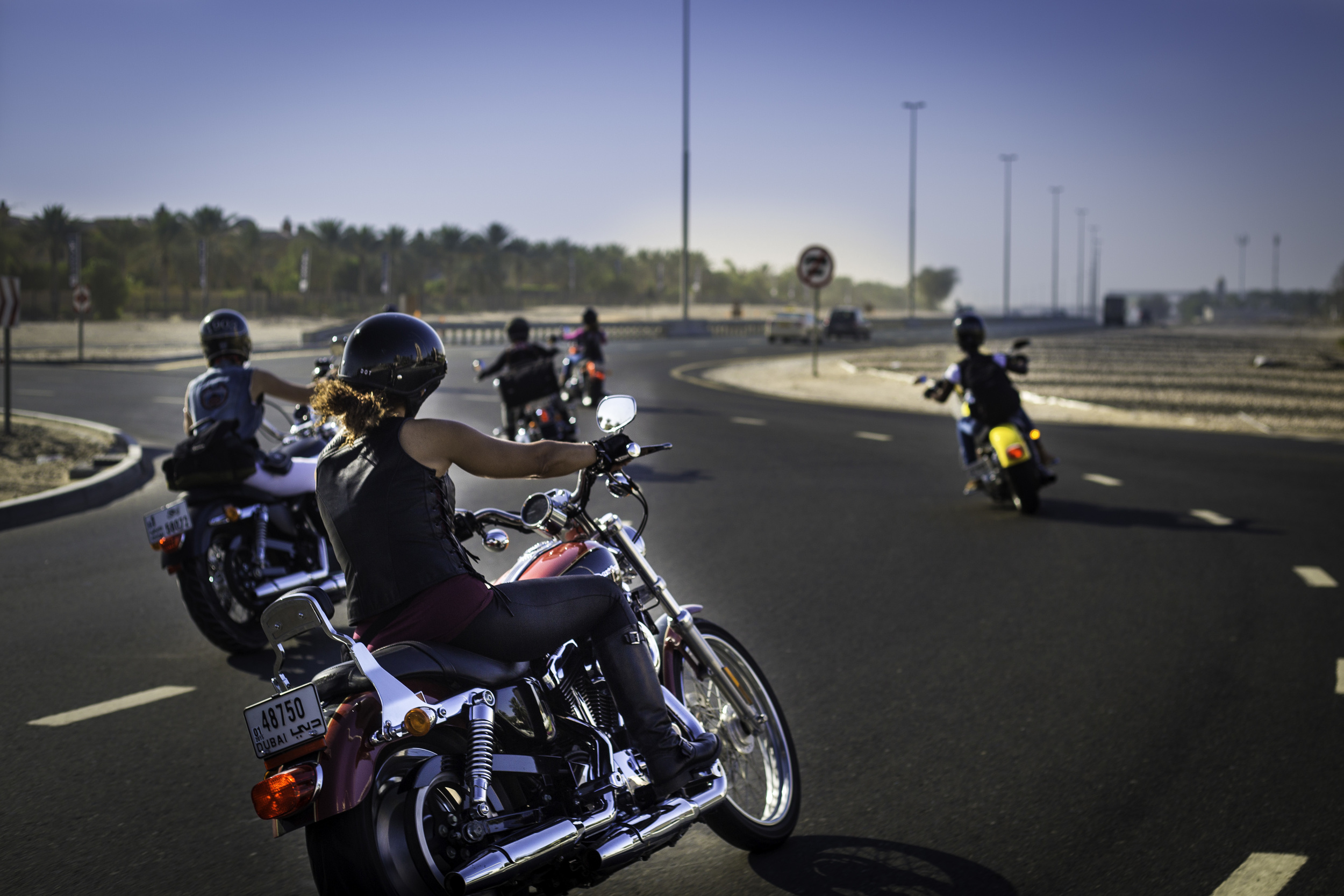 Dubai Ladies of Harley riders riding back to Dubai after marking International Female Ride Day (3)-2.jpg
