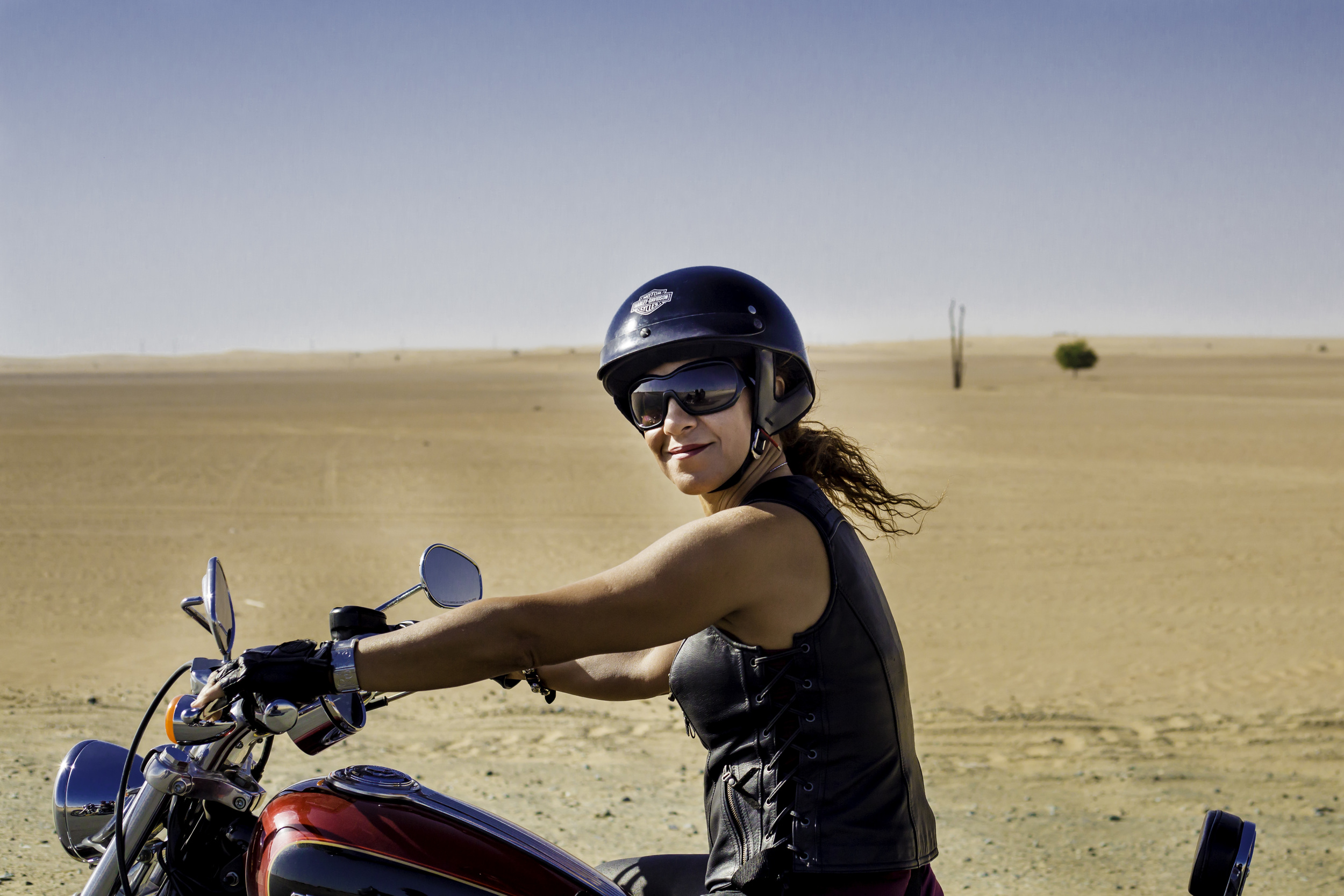 The open road. A female rider on International Female Ride Day.jpg.jpg