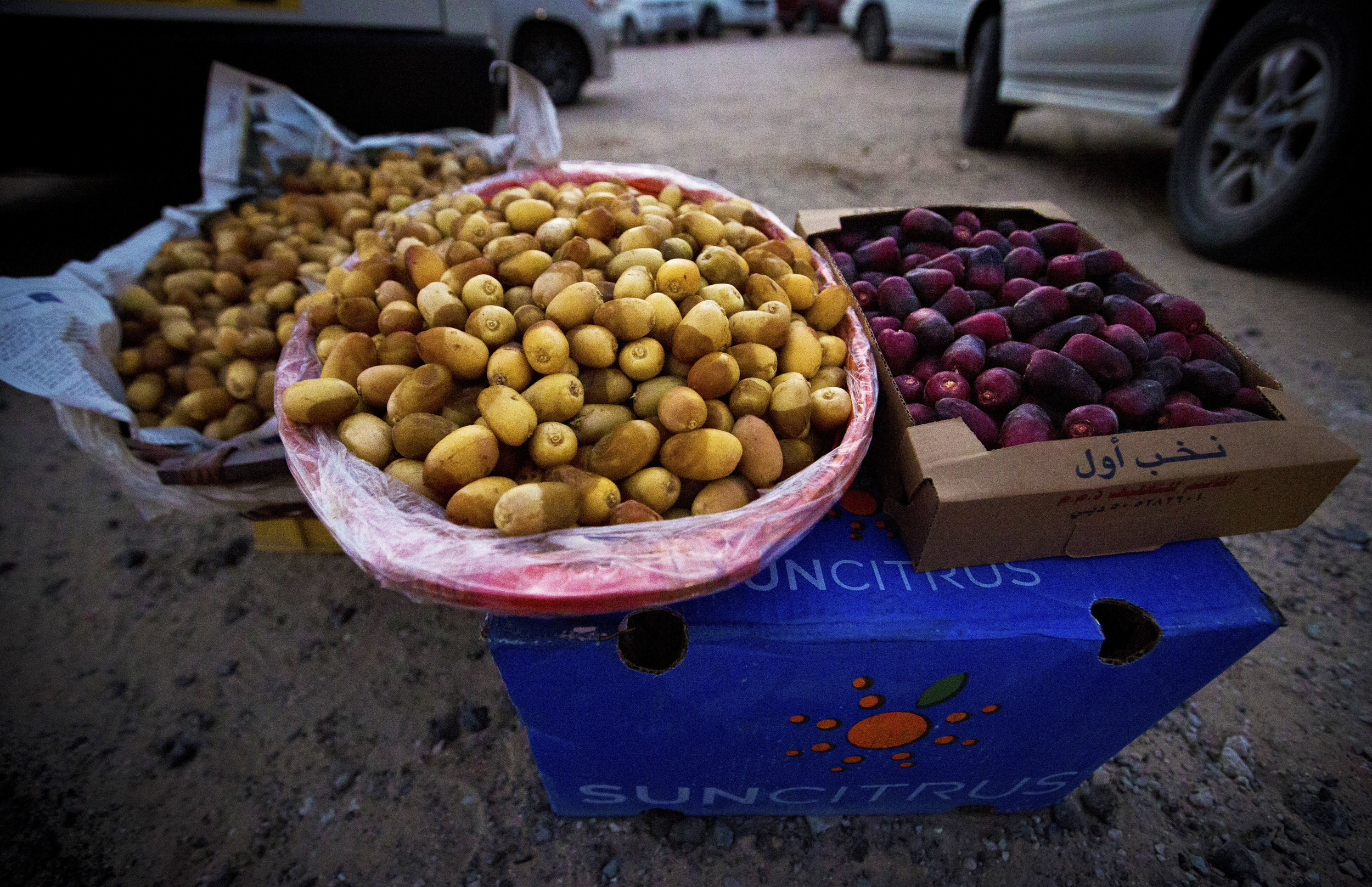 Dates being sold by a Fujairah date-grower outside the Liwa Date Festival tent.jpg