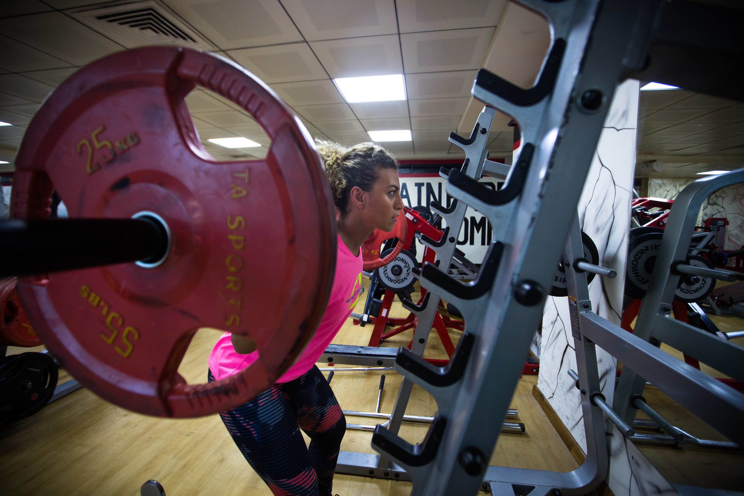 Pumping iron with the GCC's first female bodybuilder -