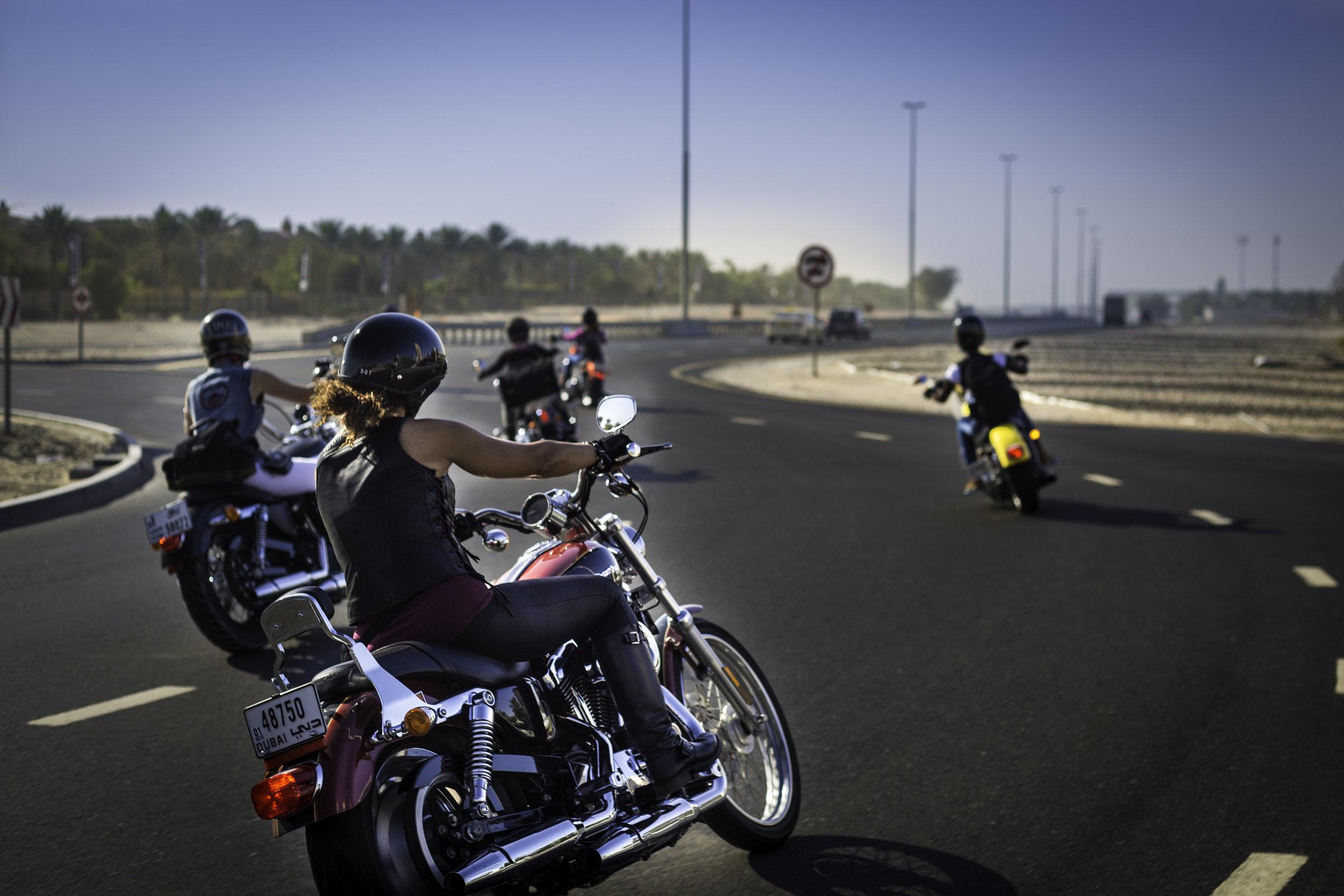 Dubai Ladies of Harley riders riding back to Dubai after marking International Female Ride Day (3).jpg