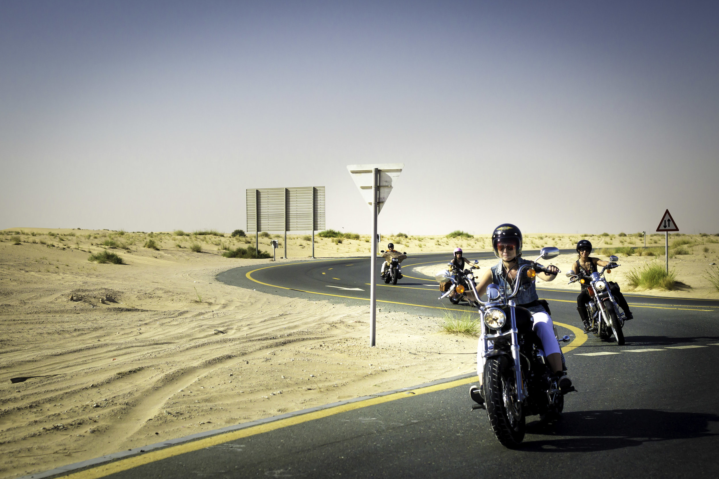 On the road, riding from Dubai toward Al Ain on the International Female Ride Day (1).jpg