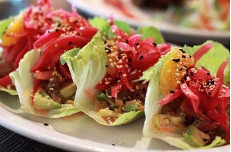 Crane Bay® Sashimi Grade Yellowfin Tuna Crazy-Cut Lettuce Cups