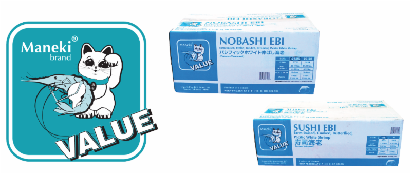 Maneki® Value Nobashi and Sushi Ebi