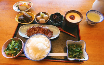 A meal of Obanzai Ryori