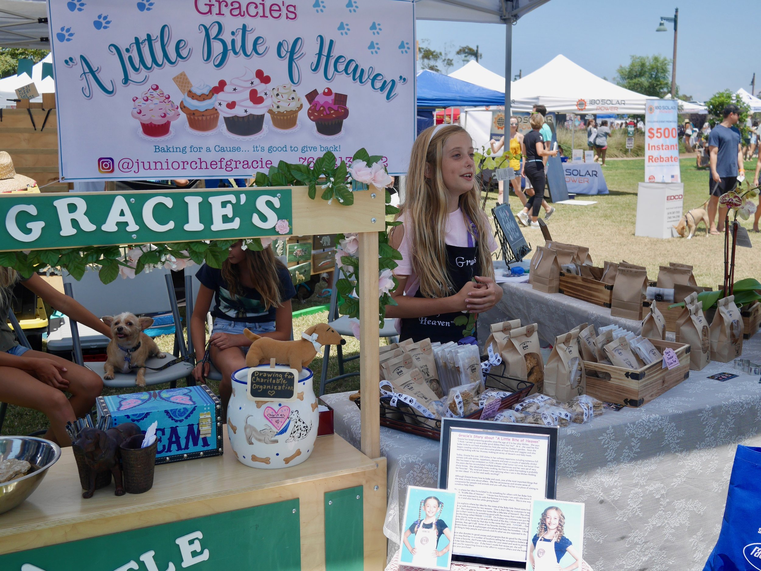"Gracie's ""A Little Bite of Heaven"" at Cardiff Dog Days of Summer 2018"