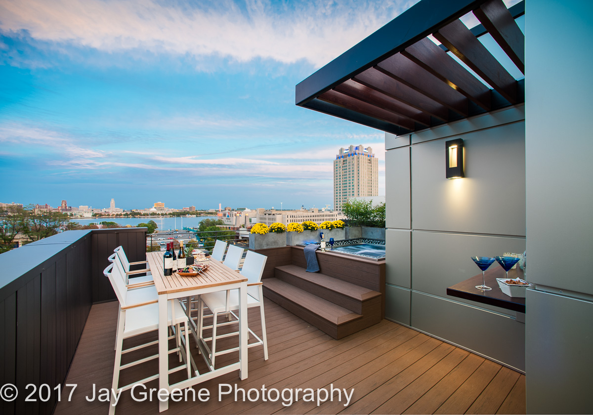 Best Deck by WPL Interior Design from the 2016 Philadelphia Magazine Design Home. Also Best Kids room and Best Home Theatre.