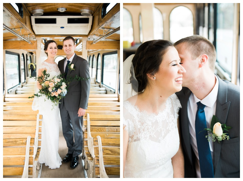 trolley bride and groom athens wedding photographer