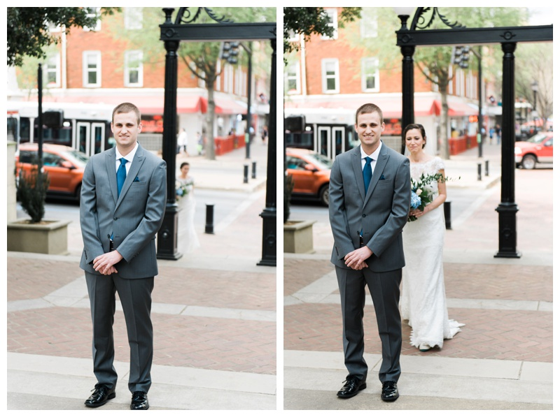 uga arch first look athens wedding photographer