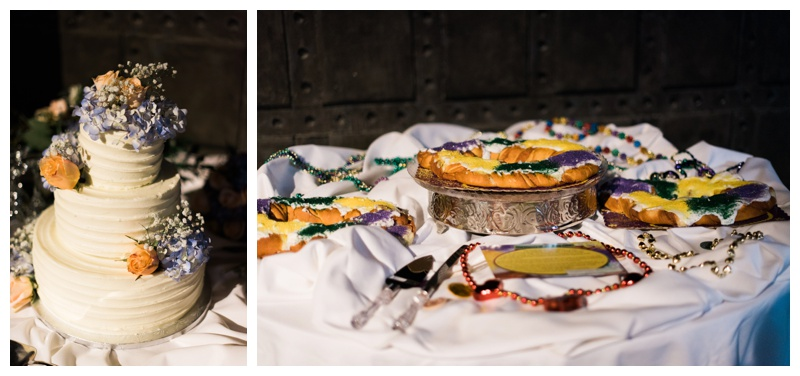cake mardi gras king cake athens wedding photographer
