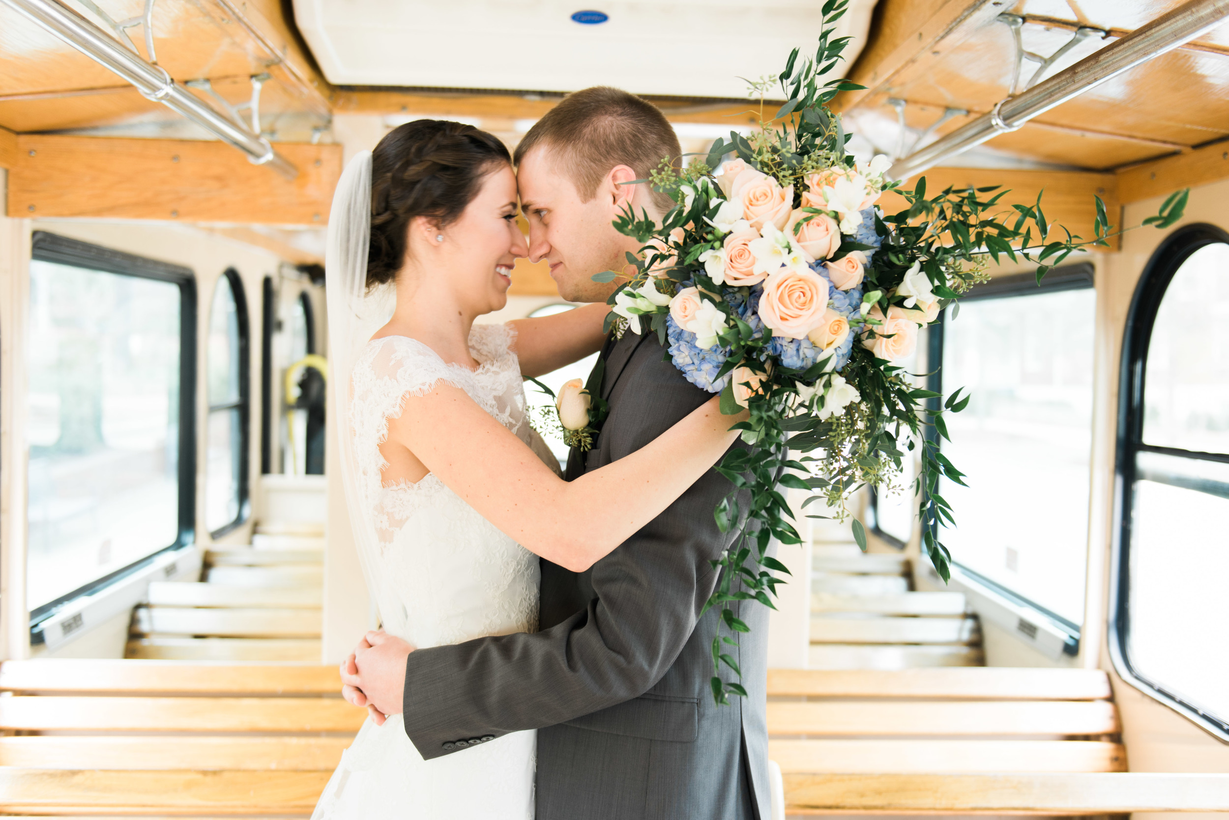 trolley bride groom athens wedding photographer