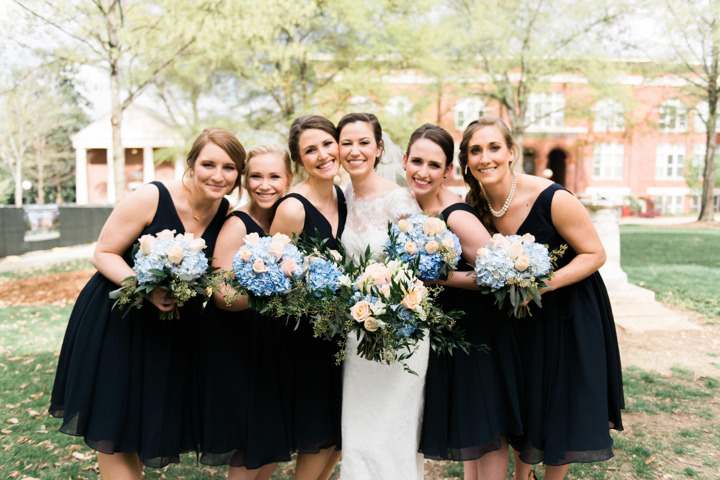 uga bridesmaids athens wedding photographer