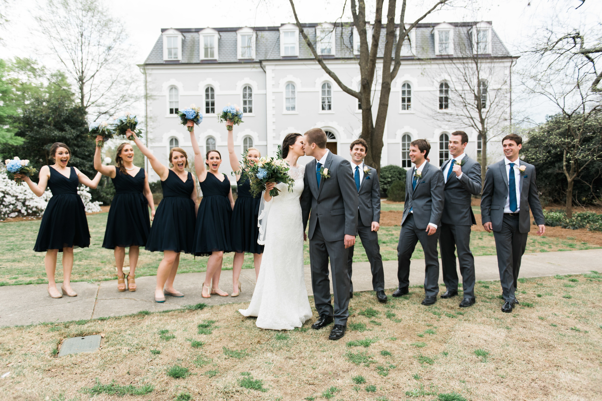 bridal party uga athens wedding photographer
