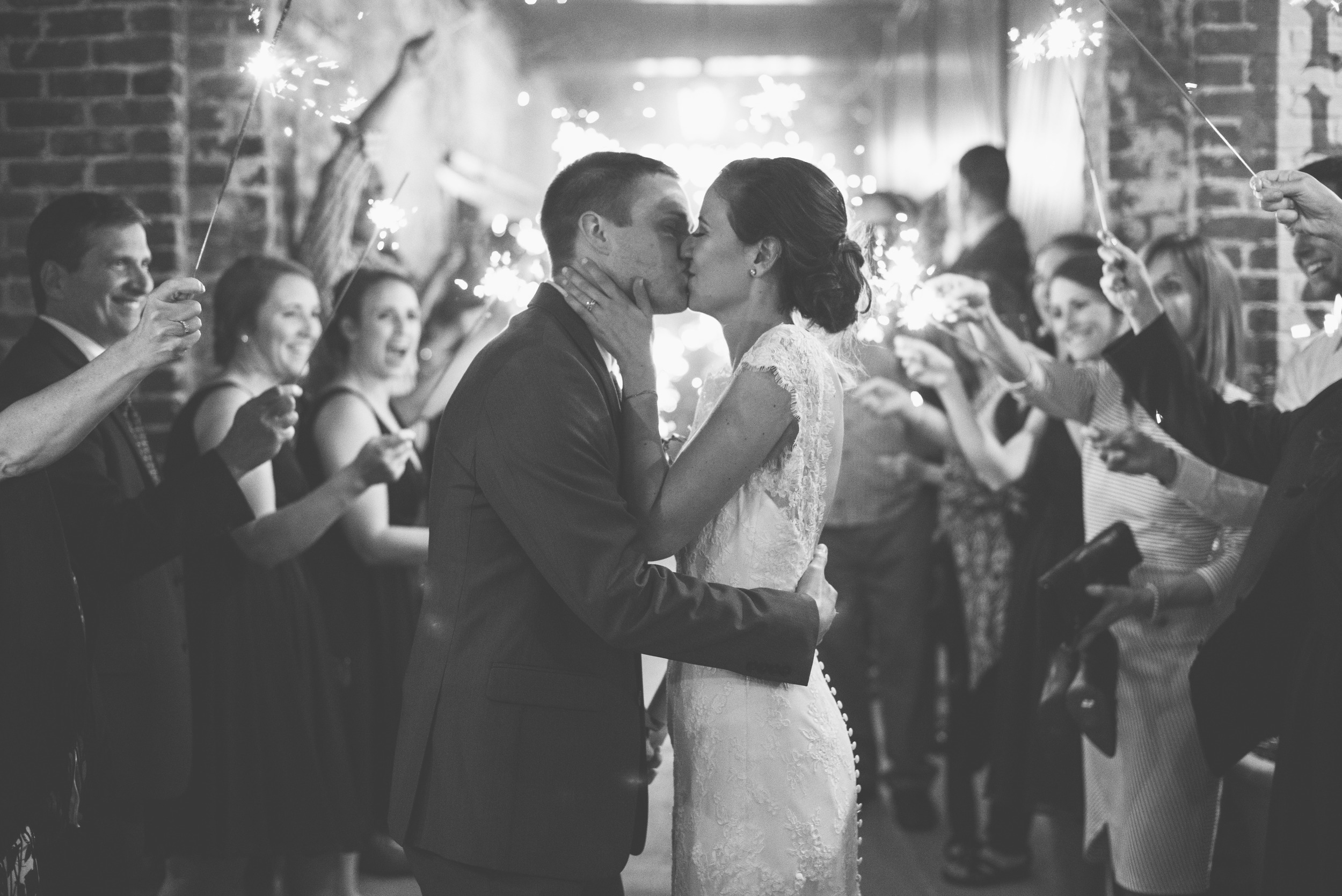 sparklers the foundry athens wedding photographer