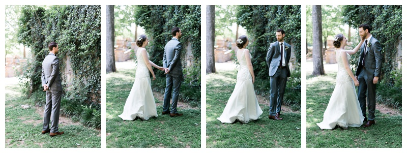 Piedmont Park First Look Atlanta Wedding Photographer