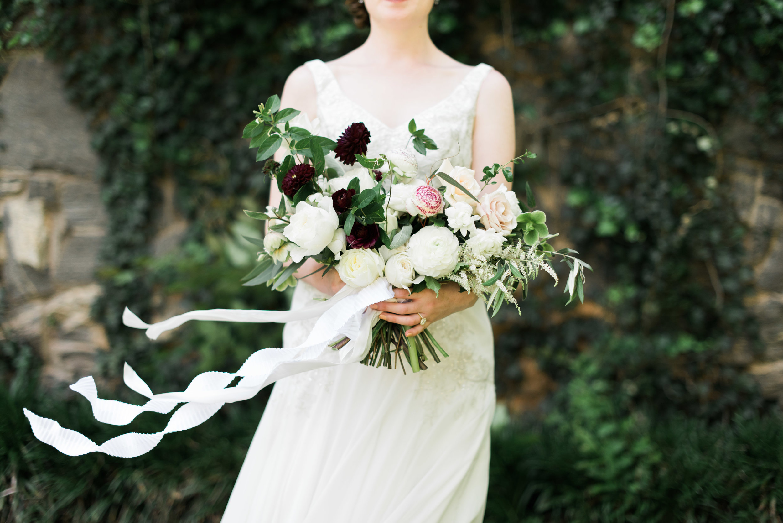 bridal bouquet the greystone at piedmont park atlanta wedding photographer