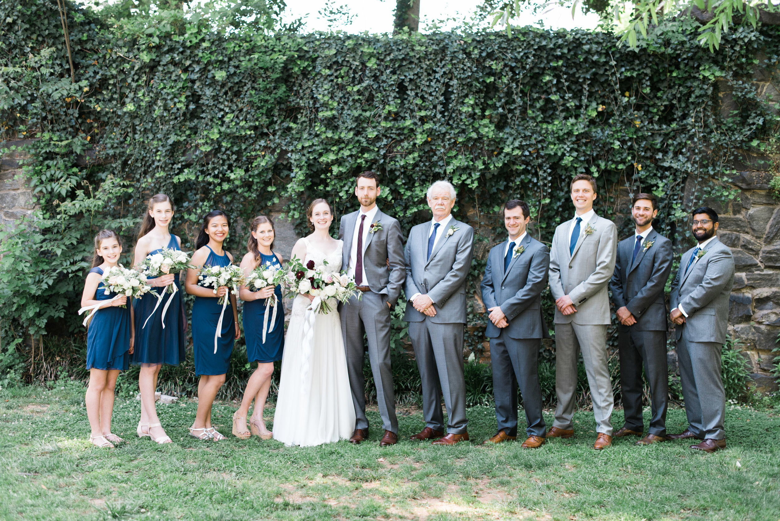bridal party the greystone at piedmont park atlanta wedding photographer